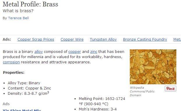 metal profile brass