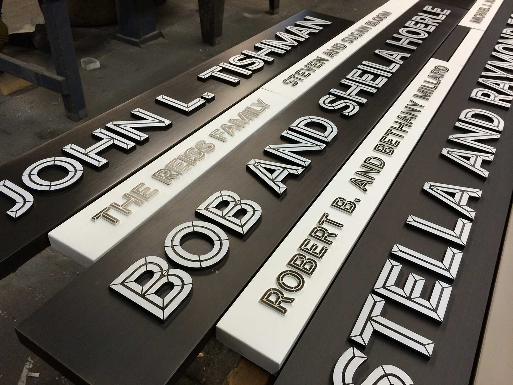 Signs and Decals: Custom Signage, New School University Center donor wall